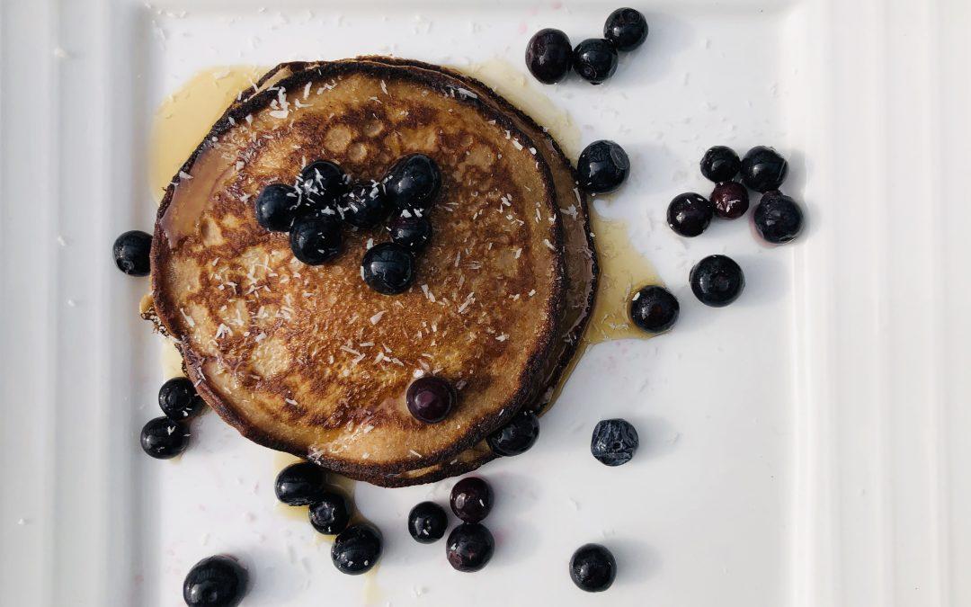Healthy sweet organic pancakes